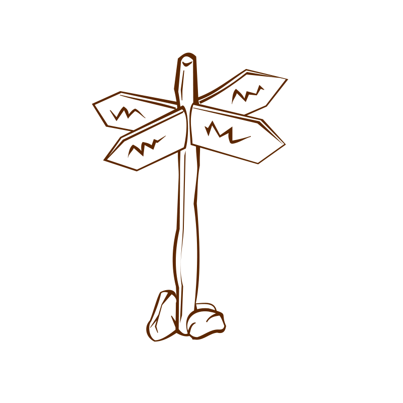 Crossroads clipart jpg freeuse stock Free Clipart: RPG map symbols Crossroads Sign 1   nicubunu jpg freeuse stock