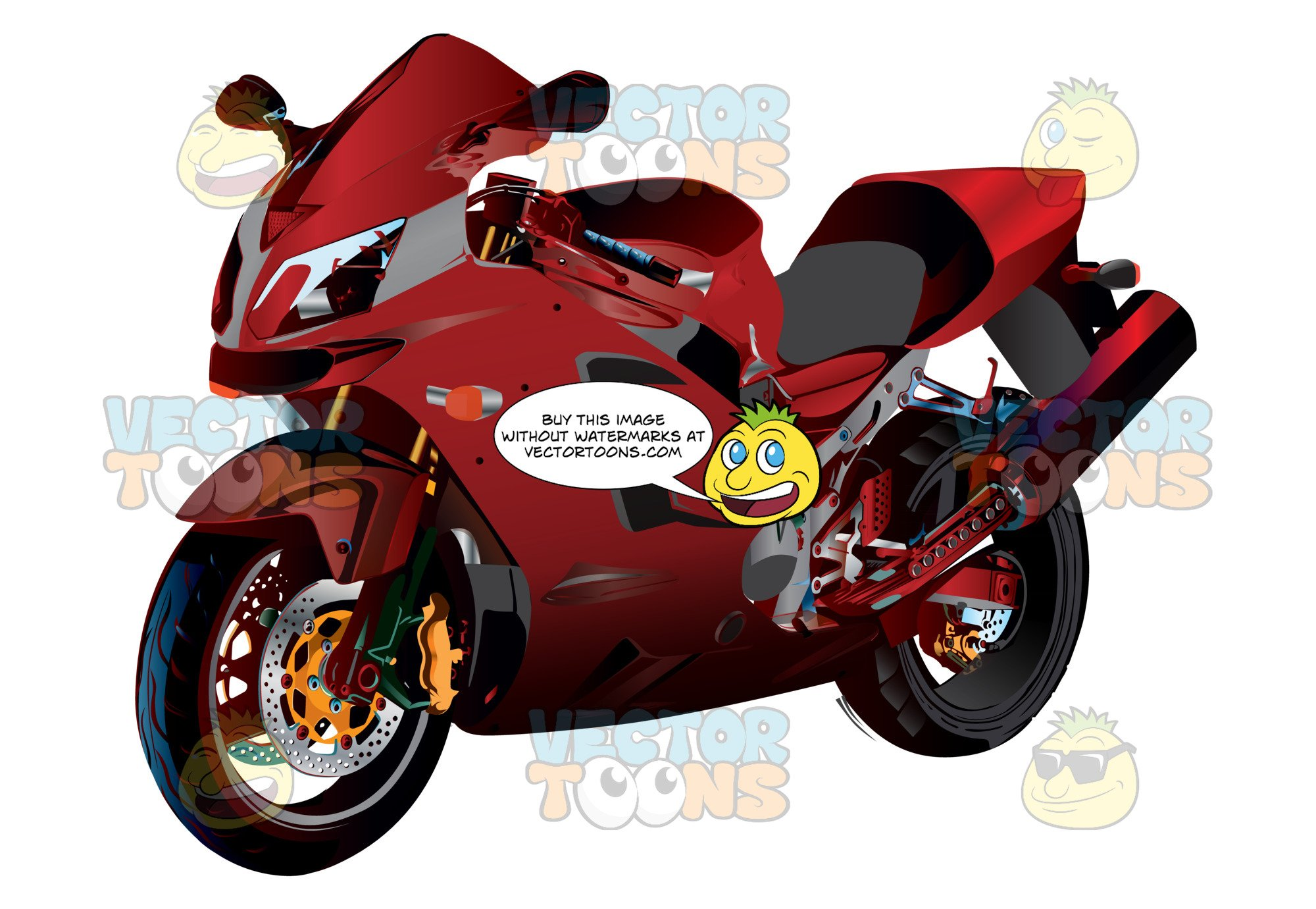 Crotch rocket clipart clip art library Red Crotch Rocket Motorcycle clip art library