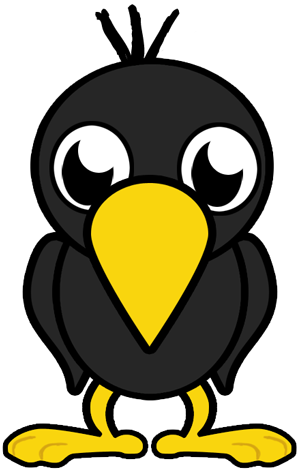 Crow face clipart image free stock How to Draw Cartoon Baby Crows in Easy Step by Step Lesson ... image free stock