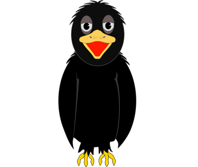 Crow face clipart vector freeuse library Free Clipart: Crow | frankes vector freeuse library