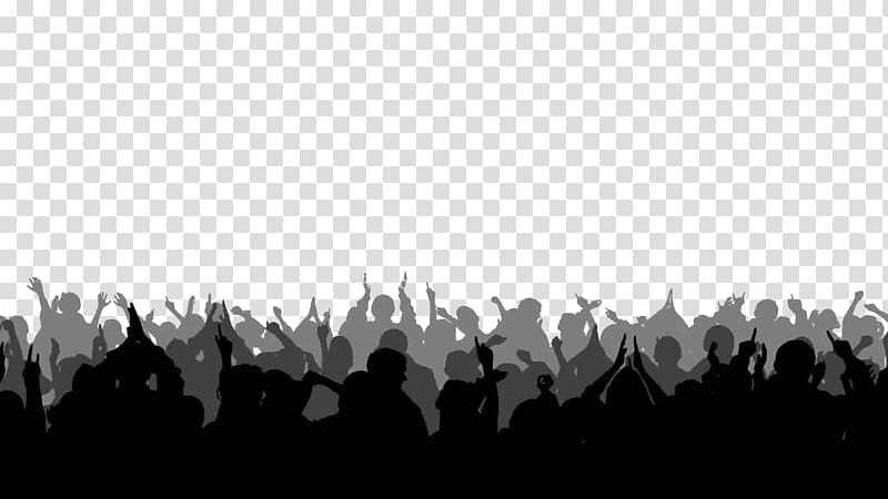 Crowd of black and white figures clipart svg library download Silhouette of pwople illustration, Silhouette footage Crowd , crowd ... svg library download