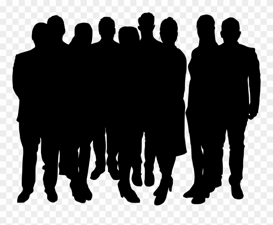 Crowd people clipart picture royalty free library Crowd Png - Group Of People Silhouette Png Clipart (#1434390 ... picture royalty free library