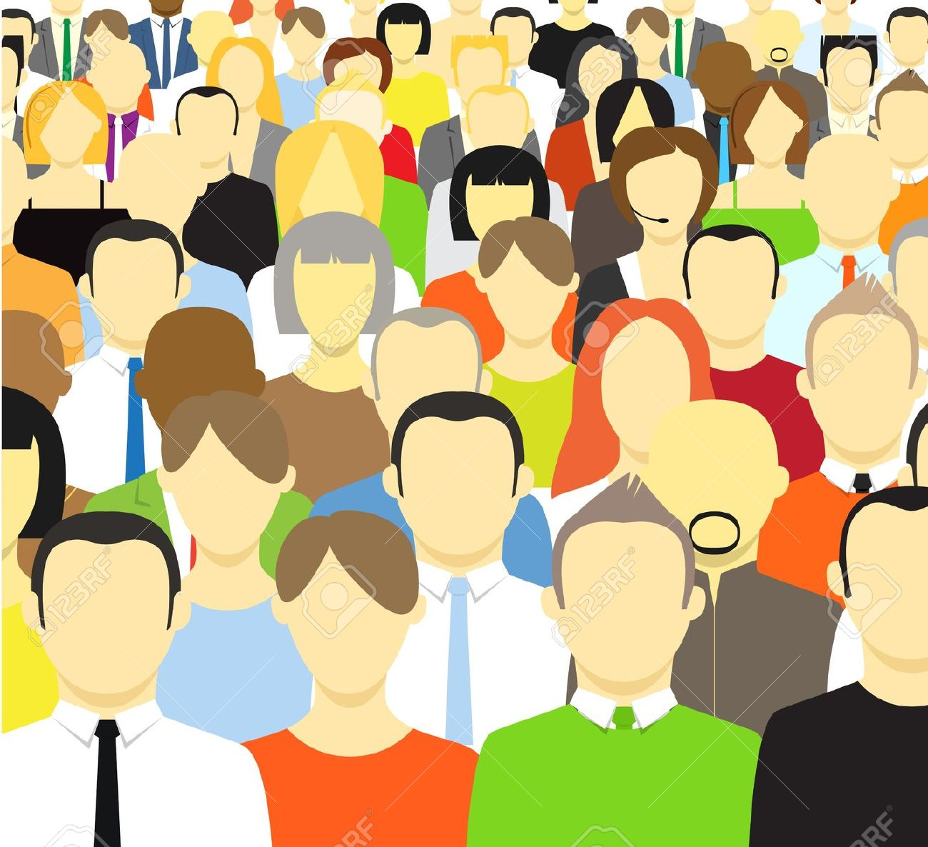 Crowd people clipart picture black and white download Crowd of people clipart 7 » Clipart Station picture black and white download