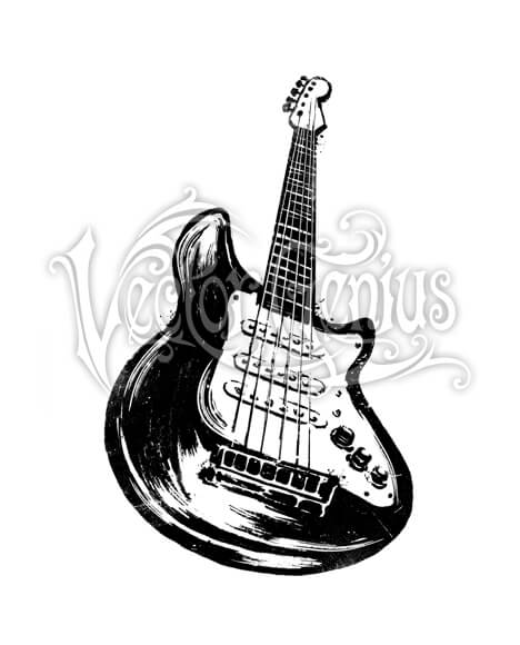 Crowdsurfing clipart clipart stock Foreshortened Hand Drawn Guitar Clip Art clipart stock