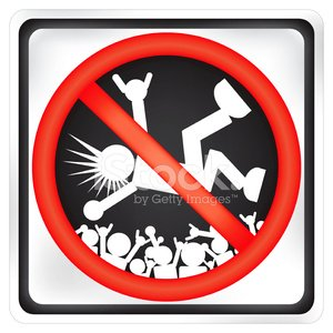Crowdsurfing clipart banner black and white library NO Crowd Surfing Sign stock vectors - 365PSD.com banner black and white library