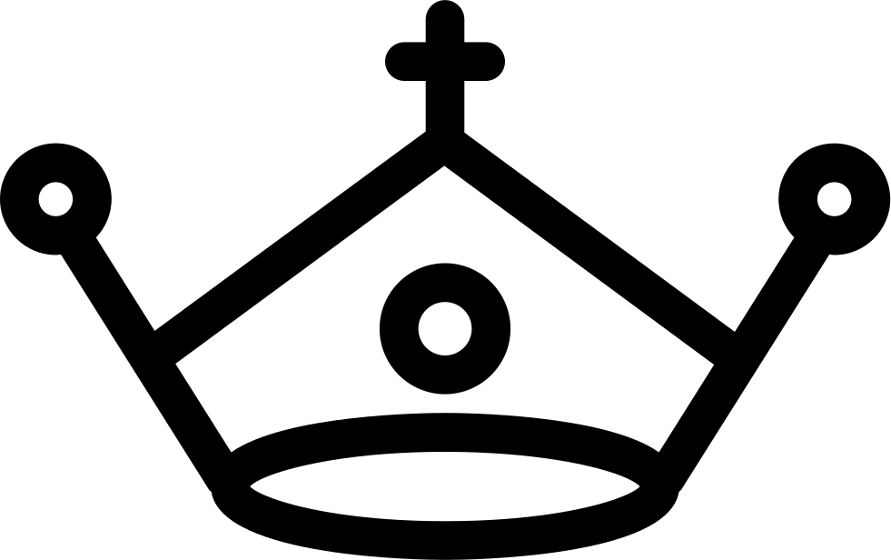 Crown and anchor clipart picture black and white download Royal Crown With A Cross Svg Png Icon Free Download (#31726 ... picture black and white download