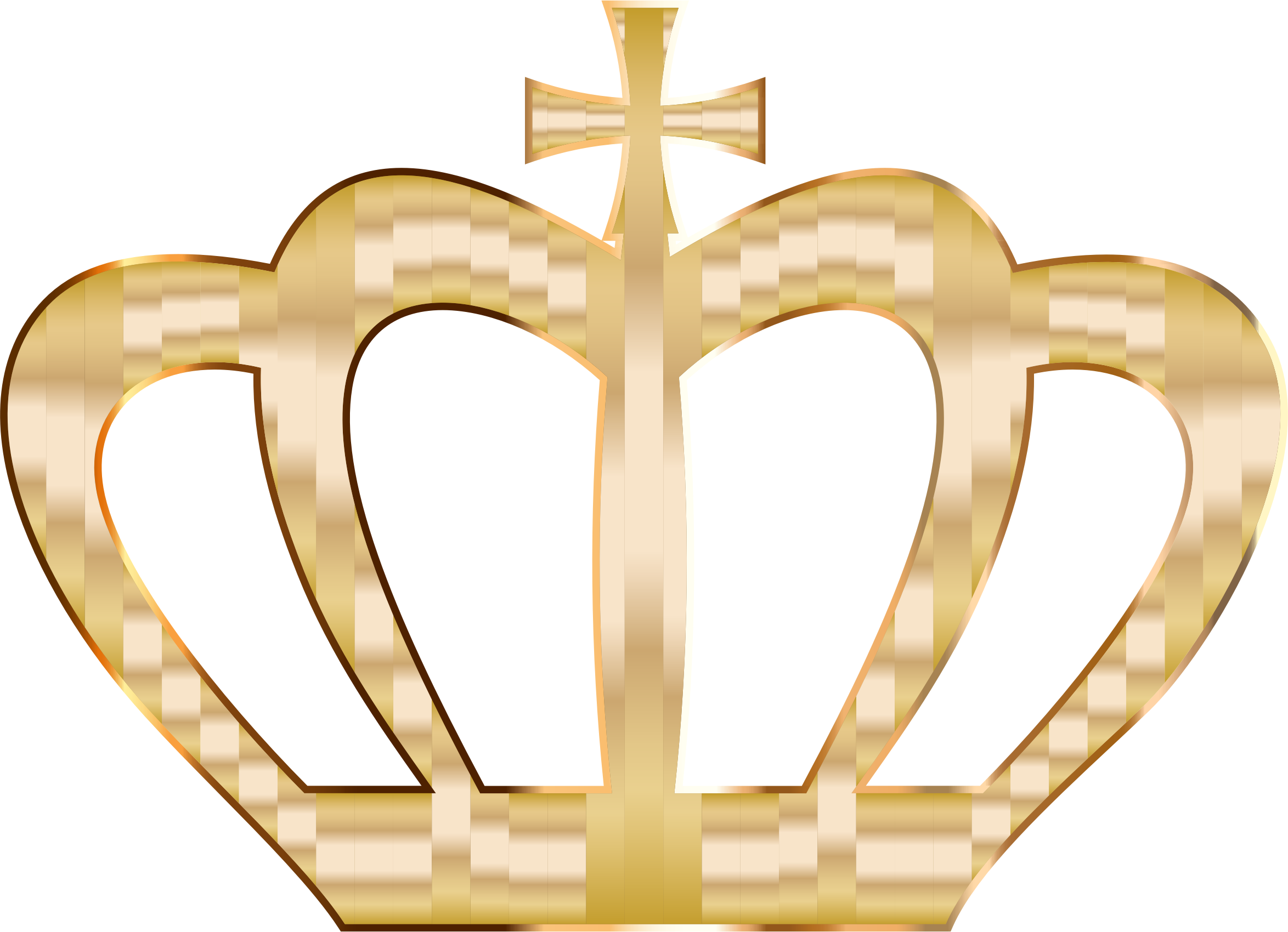 Clipart - Gold Crown Silhouette 2 No Background clip royalty free library