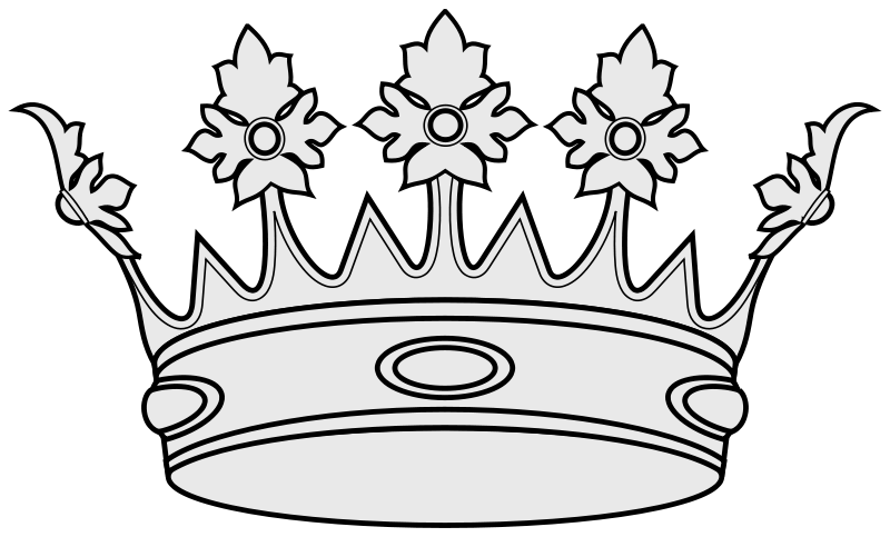 Crown and scepter clipart black anh withe. File coa illustration elements
