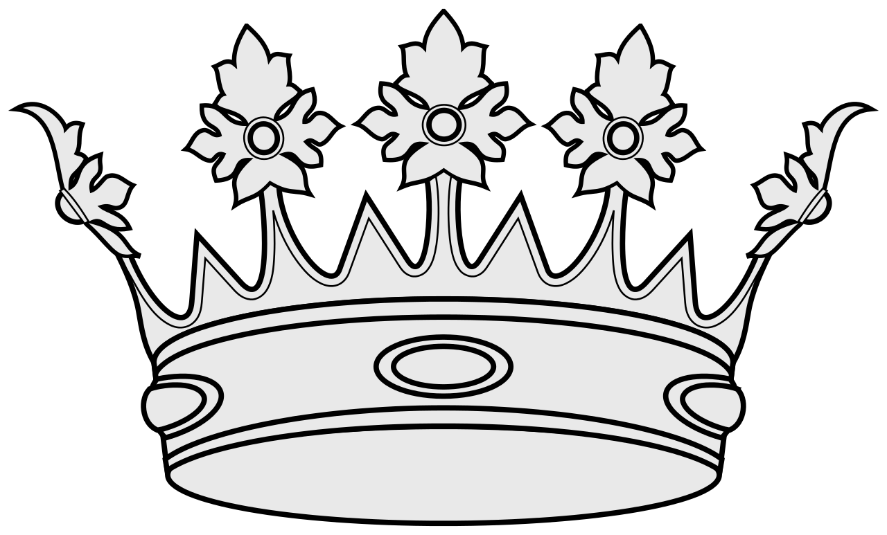 File coa illustration elements. Crown and scepter clipart black anh withe