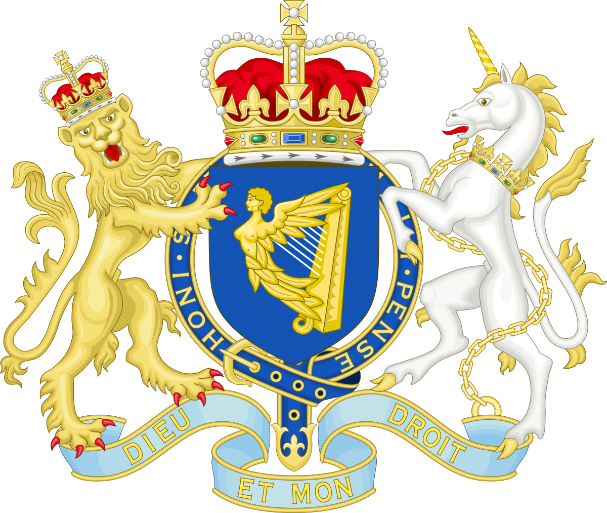 Crown and scepter united clipart clip freeuse library Crown of Ireland Act 1542 - Wikipedia clip freeuse library