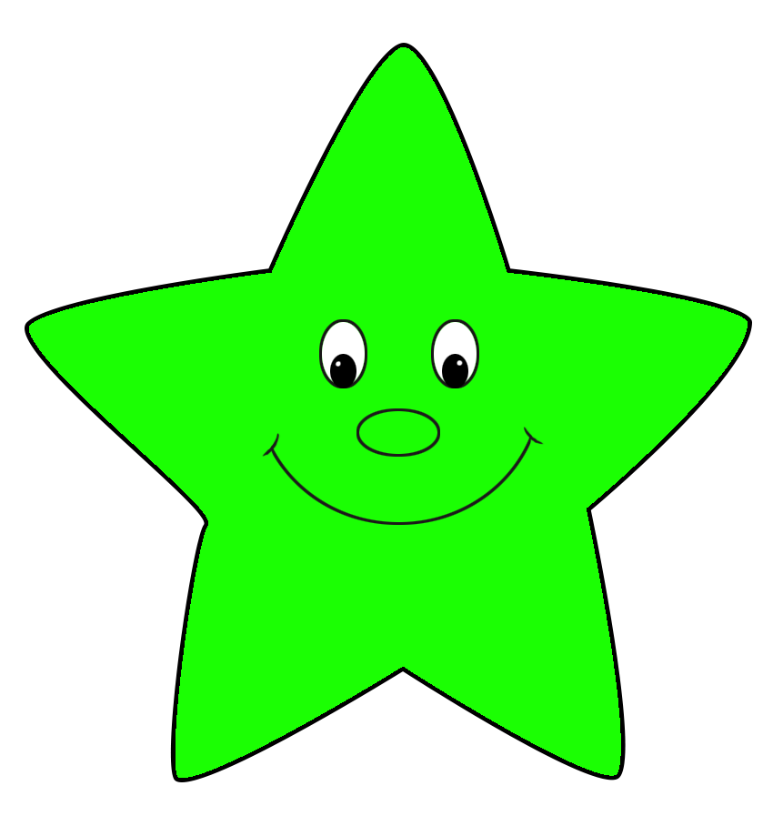 Star free green cartoon. Crown and stars clipart