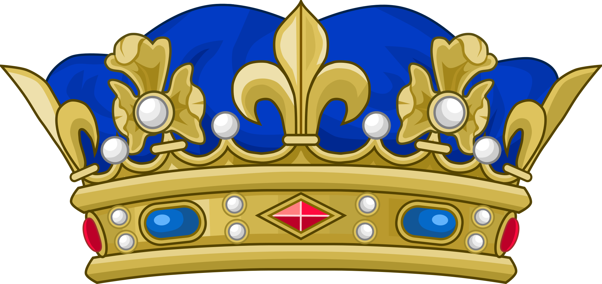 Crown on head hair clipart clip royalty free File:Crown of a Prince of the Blood of France.svg - Wikimedia Commons clip royalty free