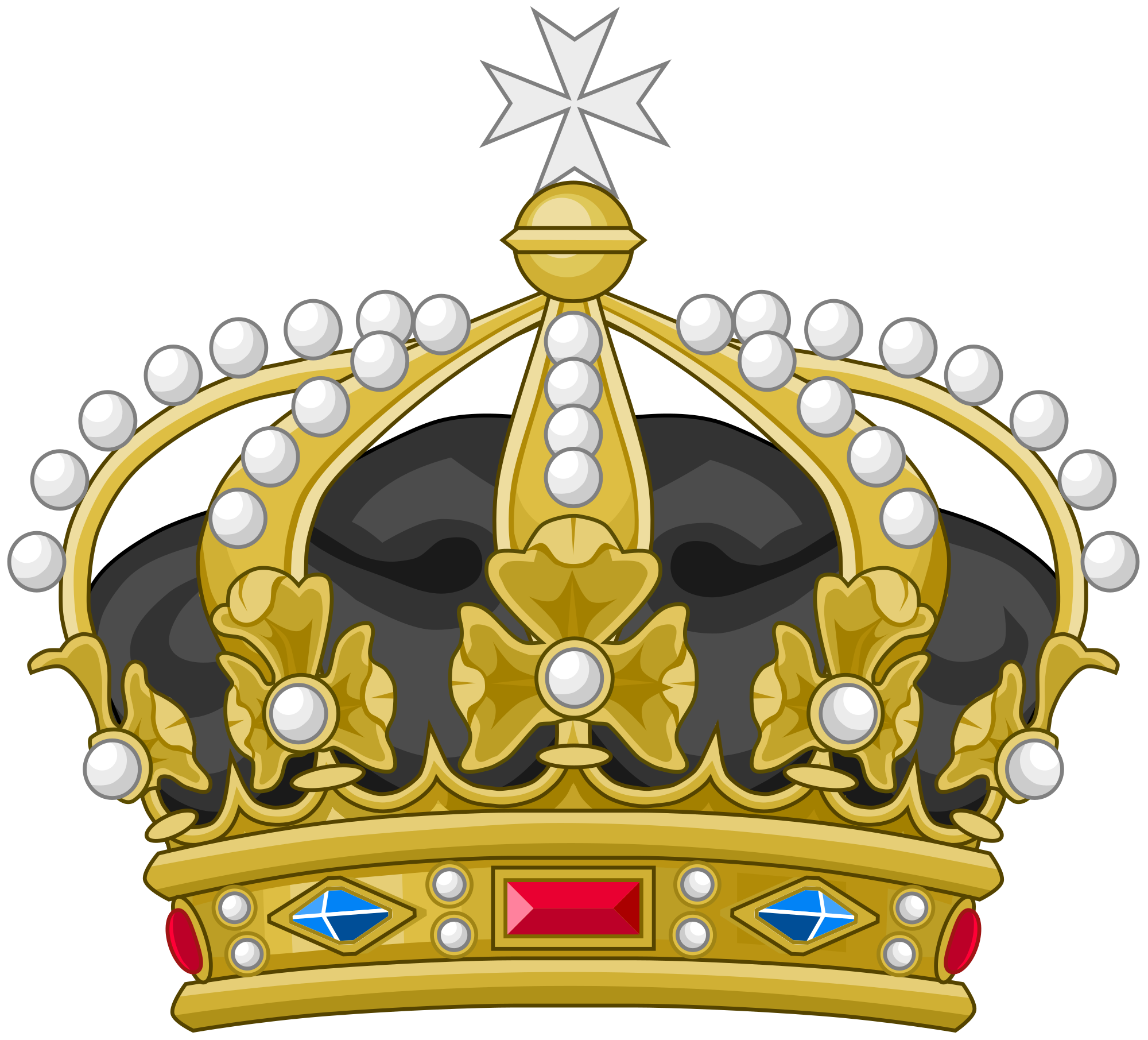 Crown b and w clipart clip art black and white File:Crown of the Sovereign Military Order of Malta (Heraldry).svg ... clip art black and white