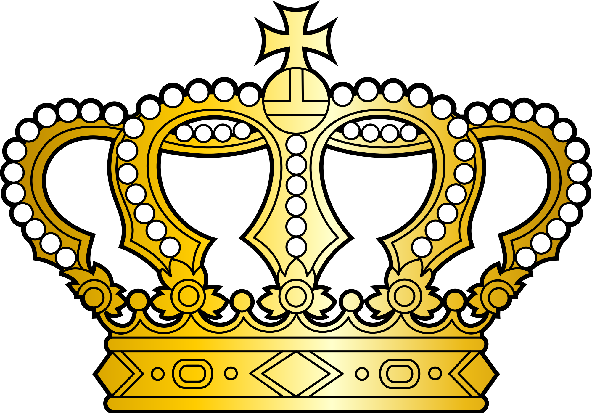 Crown b and w clipart clipart freeuse File:Georgian golden crown with pearls and cross.svg - Wikimedia Commons clipart freeuse