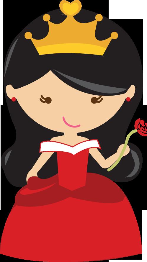 Princesas e pr ncipes. Crown bearers clipart red and black