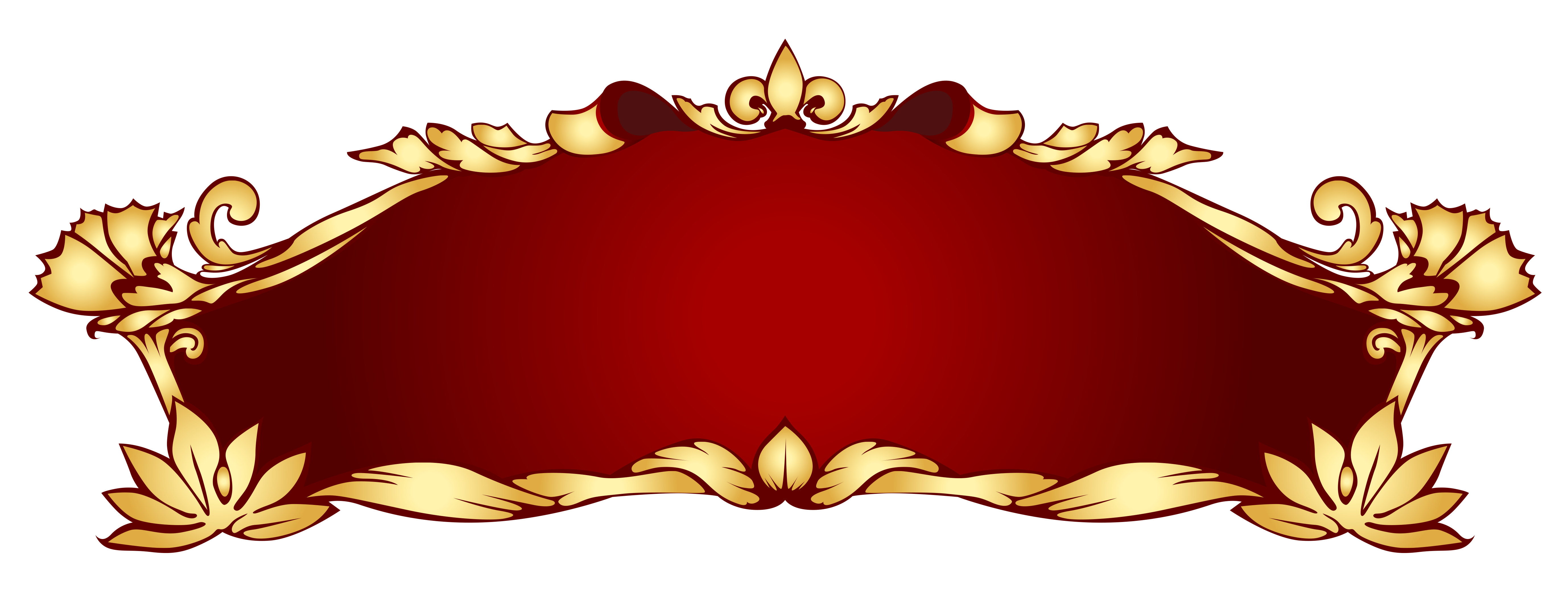 Red crown clipart transparent svg transparent stock Transparent Red Deco Banner PNG Picture | Labels | Pinterest ... svg transparent stock