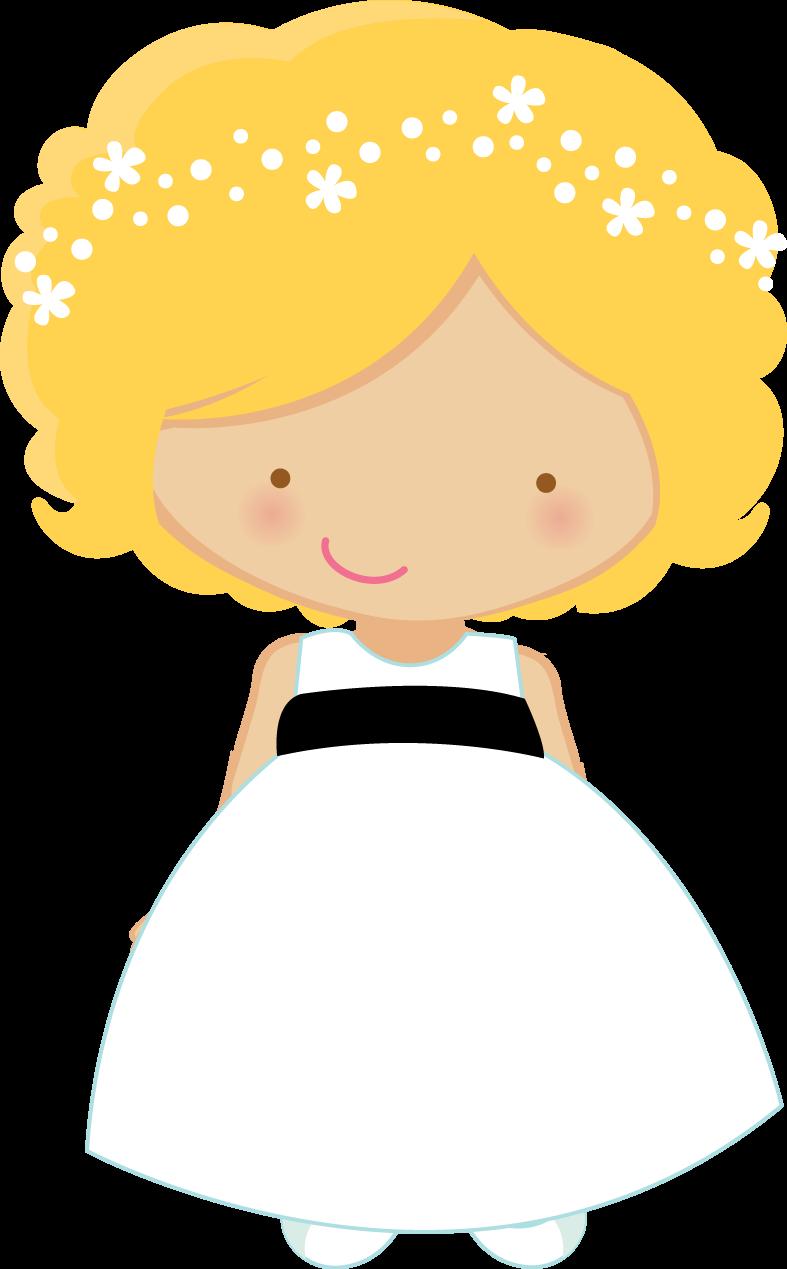 Wedding flower girl clipart clip royalty free stock Flower Girl and Ring Bearer Clipart. | Oh My Fiesta Wedding! clip royalty free stock