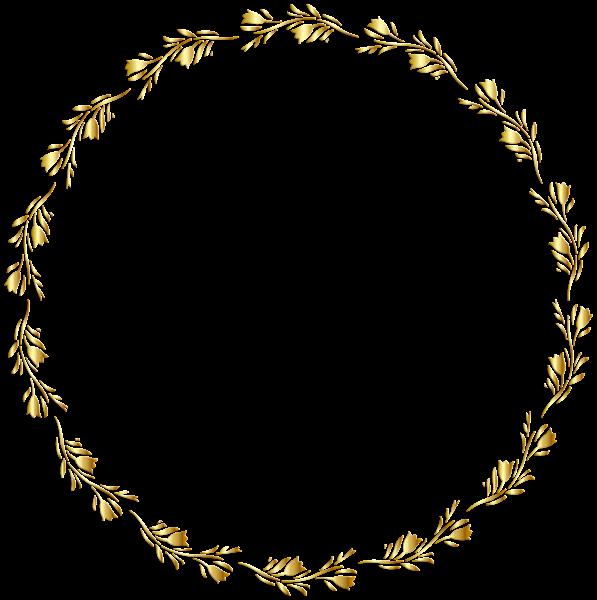 Crown board frame clipart download Gold Round Floral Border Transparent Clip Art Image | Design ... download