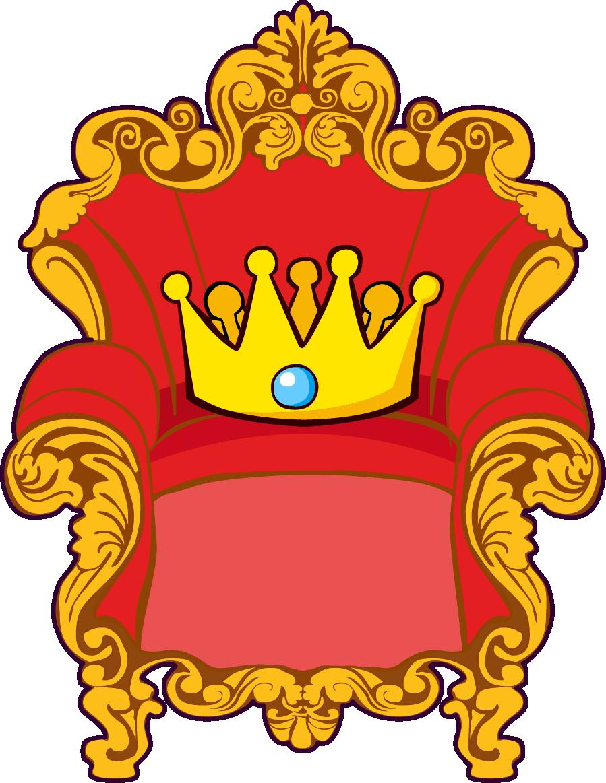 Crown boy clipart clip art black and white Visual arts Throne Cartoon Clip art - Cartoon throne golden red ... clip art black and white