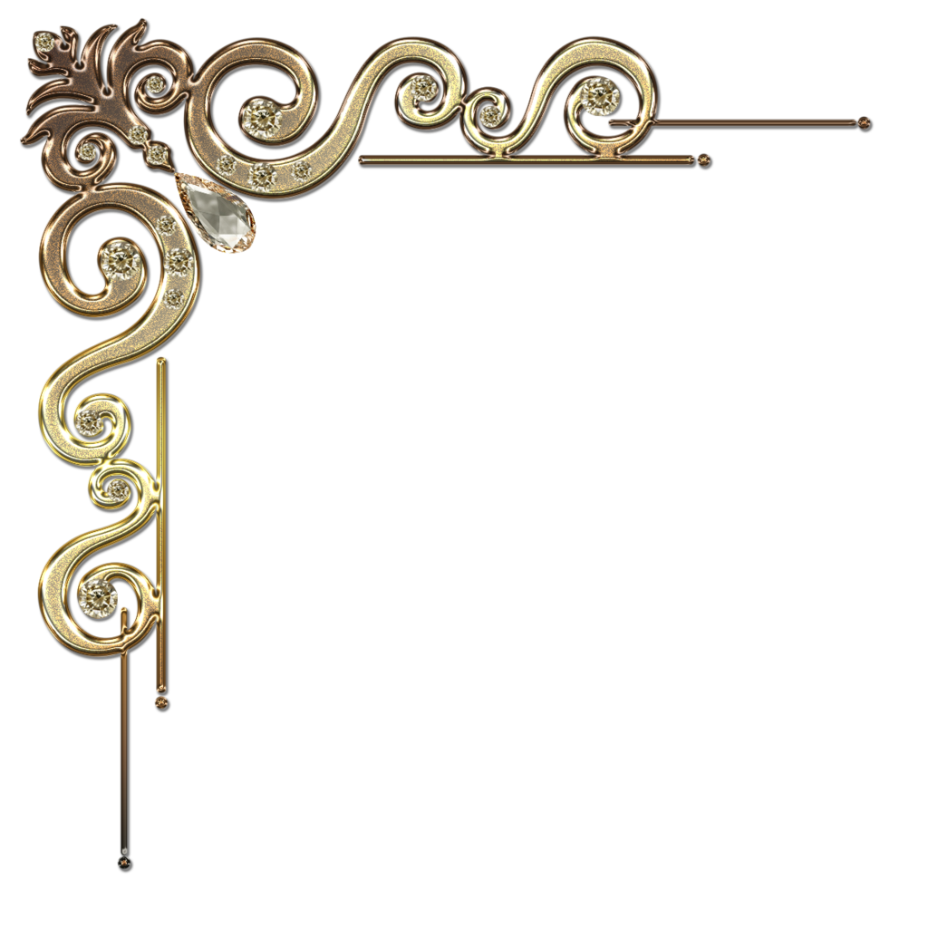 Crown clipart border freeuse Decorative corner with citrine in gold by Lyotta.deviantart.com on ... freeuse