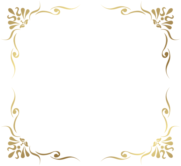 Crown clipart border royalty free stock Transparent Decorative Frame Border PNG Picture | منوع ديكور ... royalty free stock