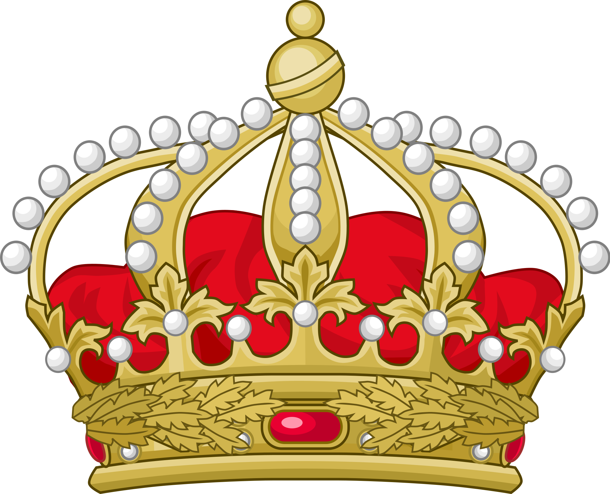 Crown clipart british vector library download File:Crown of Orléans.svg - Wikimedia Commons vector library download