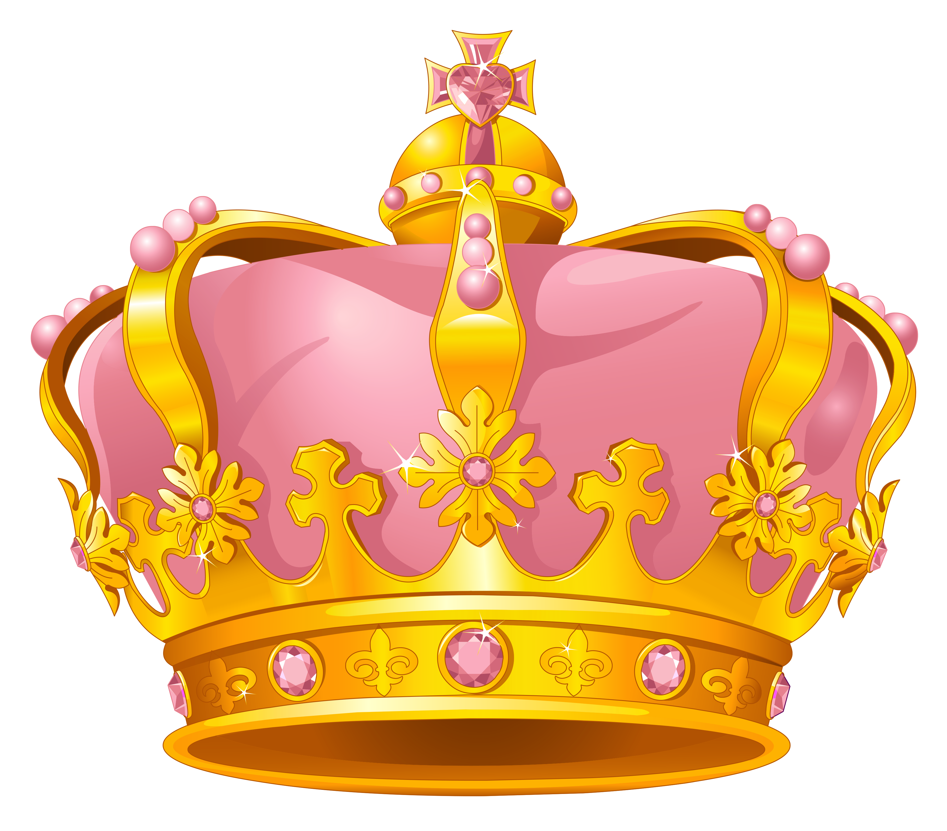 Crown clipart free download transparent library Crown Gold Pink Clip art - Golden Pink Crown PNG Clipart 3709*3252 ... transparent library