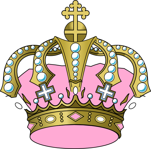 Tilted princess crown clipart image black and white library Pink Crown Clipart Clip Art at Clker.com - vector clip art online ... image black and white library