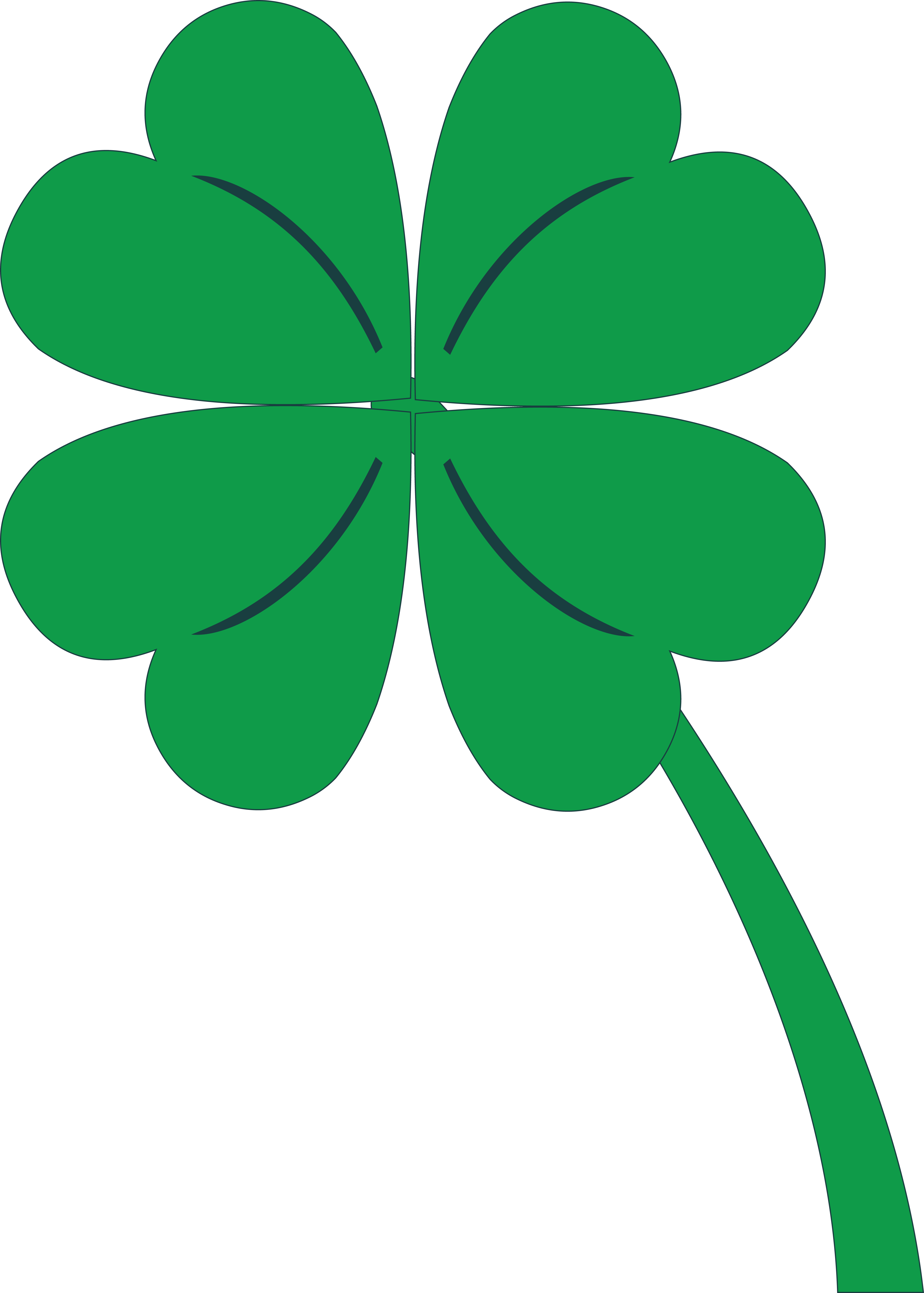 free of a. Crown leaf clover clipart