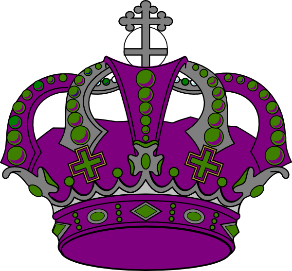 Crown clipart purple. Royal