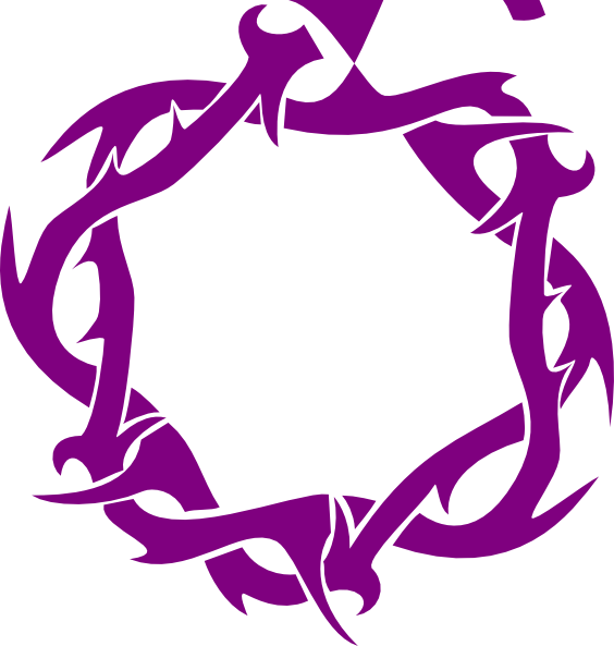 Thorns clip art at. Crown clipart purple