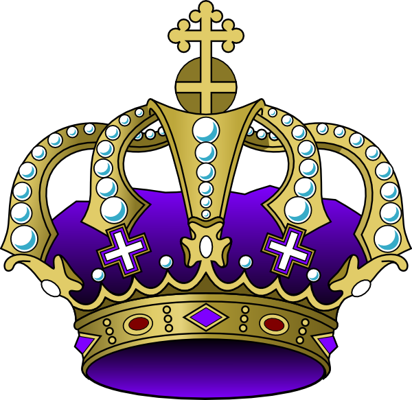 Mardi gras crown clipart png library Purple Crown Clip Art at Clker.com - vector clip art online, royalty ... png library