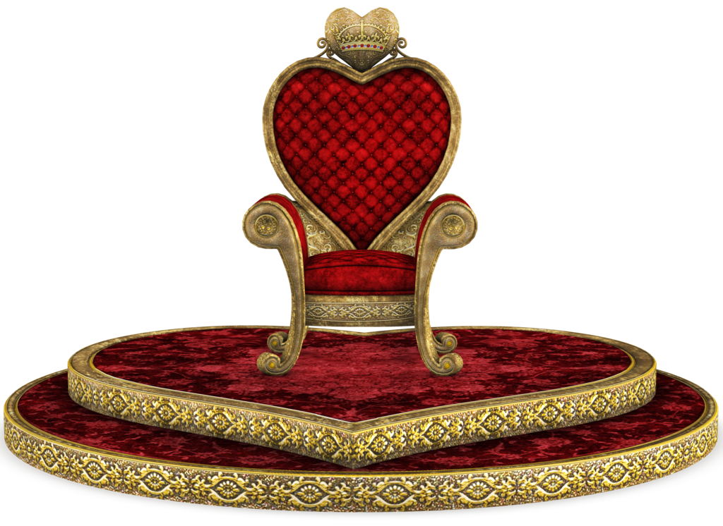 Crown clipart red queen clip royalty free library UNRESTRICTED - Queen of Hearts Throne Render 03 by frozenstocks on ... clip royalty free library