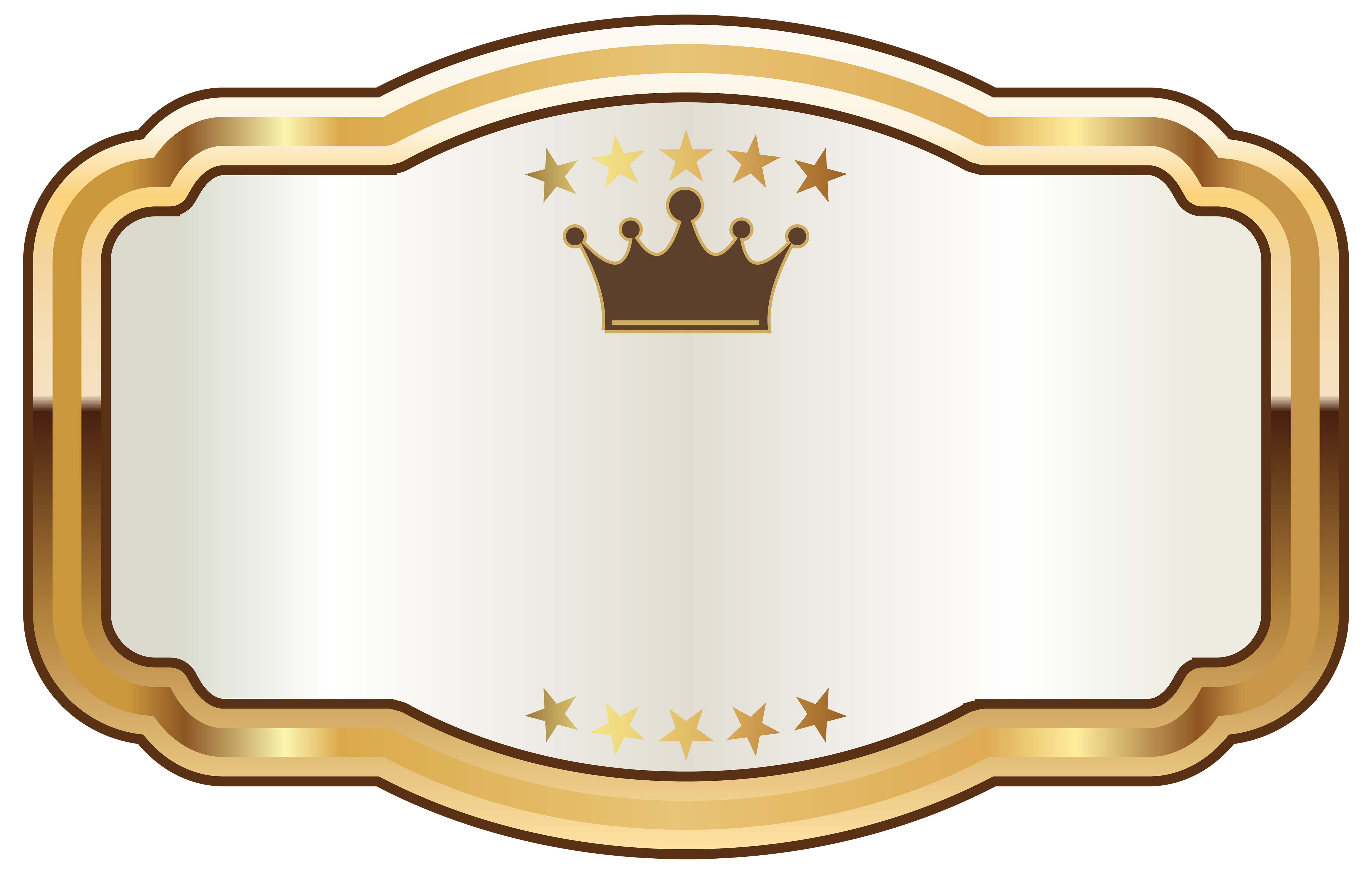 Crown clipart white png image free White Label with Gold Crown PNG Clipart Image | Gallery ... image free