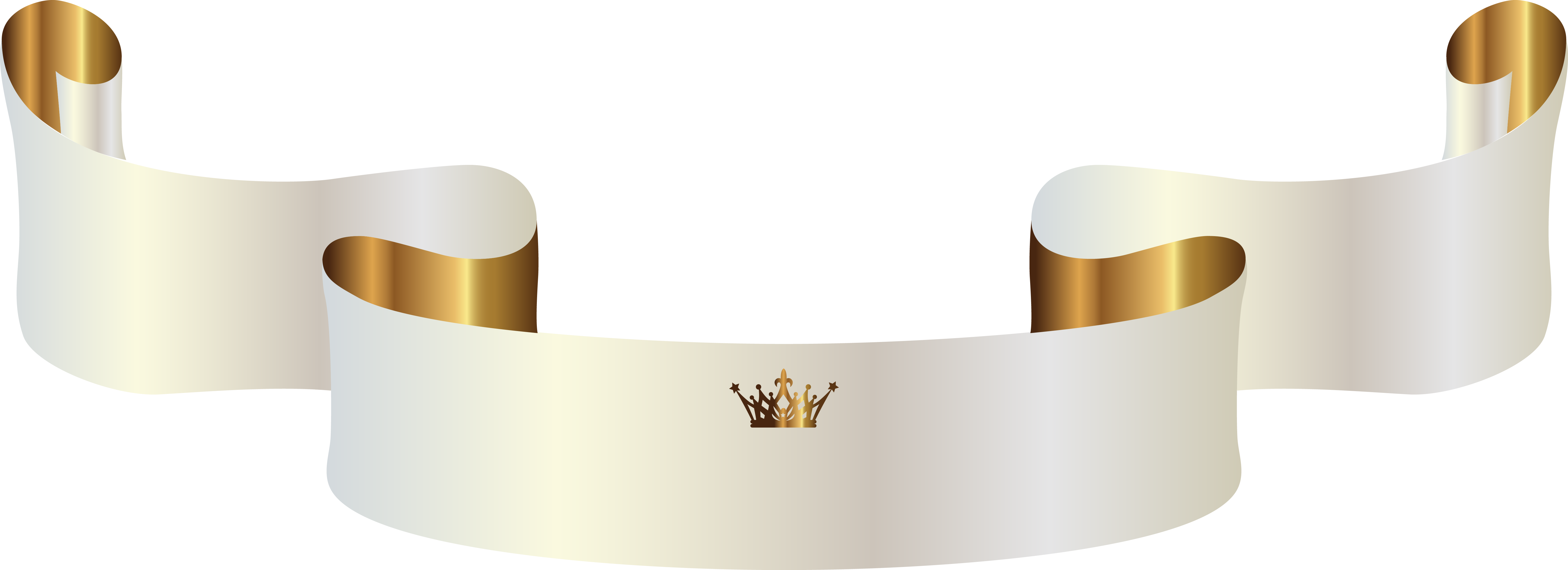 Crown clipart white png banner royalty free library White Banner with Crown PNG Clipart Image | Gallery Yopriceville ... banner royalty free library