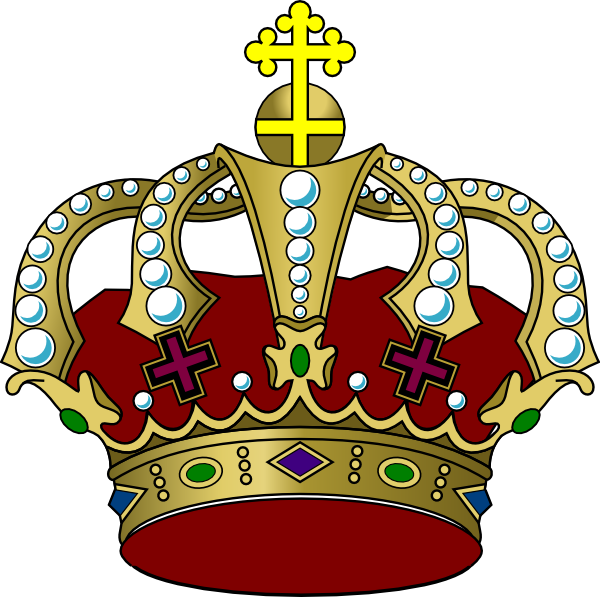 Crown clipart with green gem graphic library library Colorful Crown Clip Art at Clker.com - vector clip art online ... graphic library library