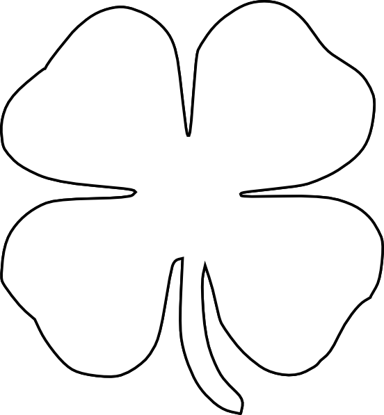 Crown clover clipart black and white banner black and white 4 h clover clipart | ClipartMonk - Free Clip Art Images banner black and white