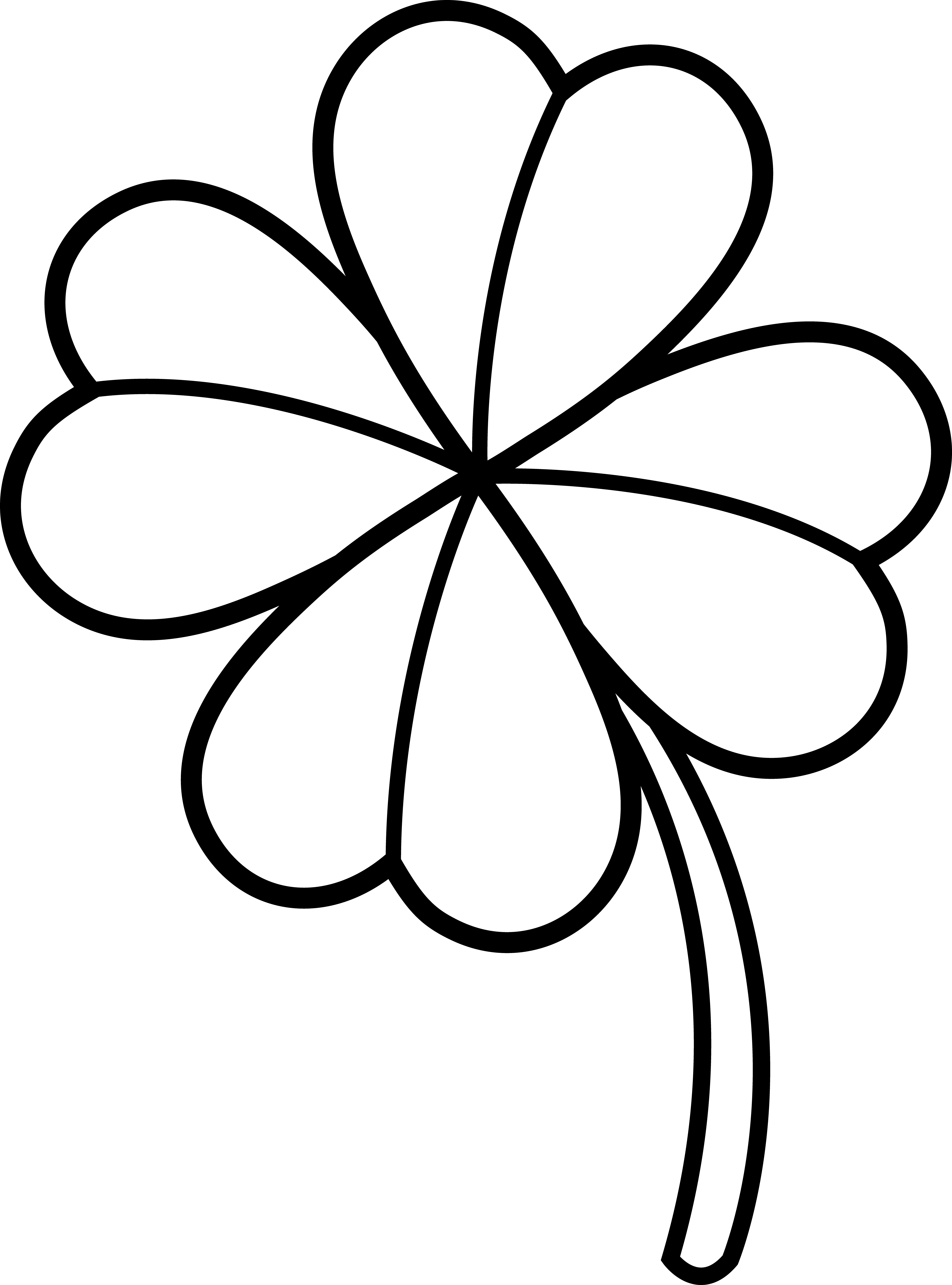 Crown clover clipart black and white graphic royalty free 28+ Collection of 4 Leaf Clover Clipart Black And White | High ... graphic royalty free