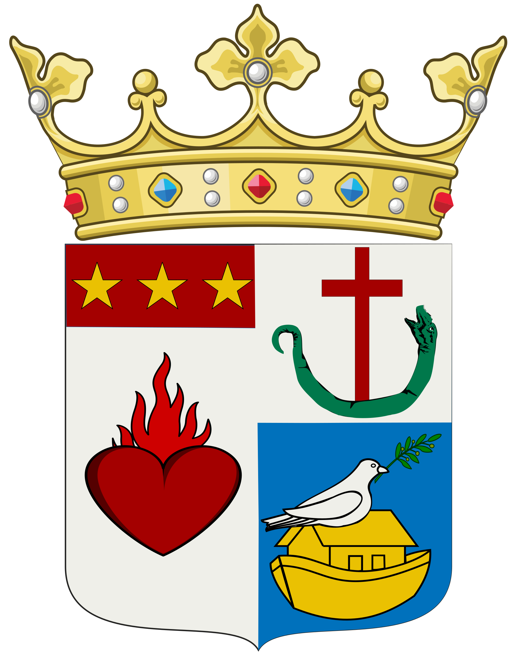 Crown crest clipart png image free stock File:Filitti family coat of arms.svg - Wikimedia Commons image free stock