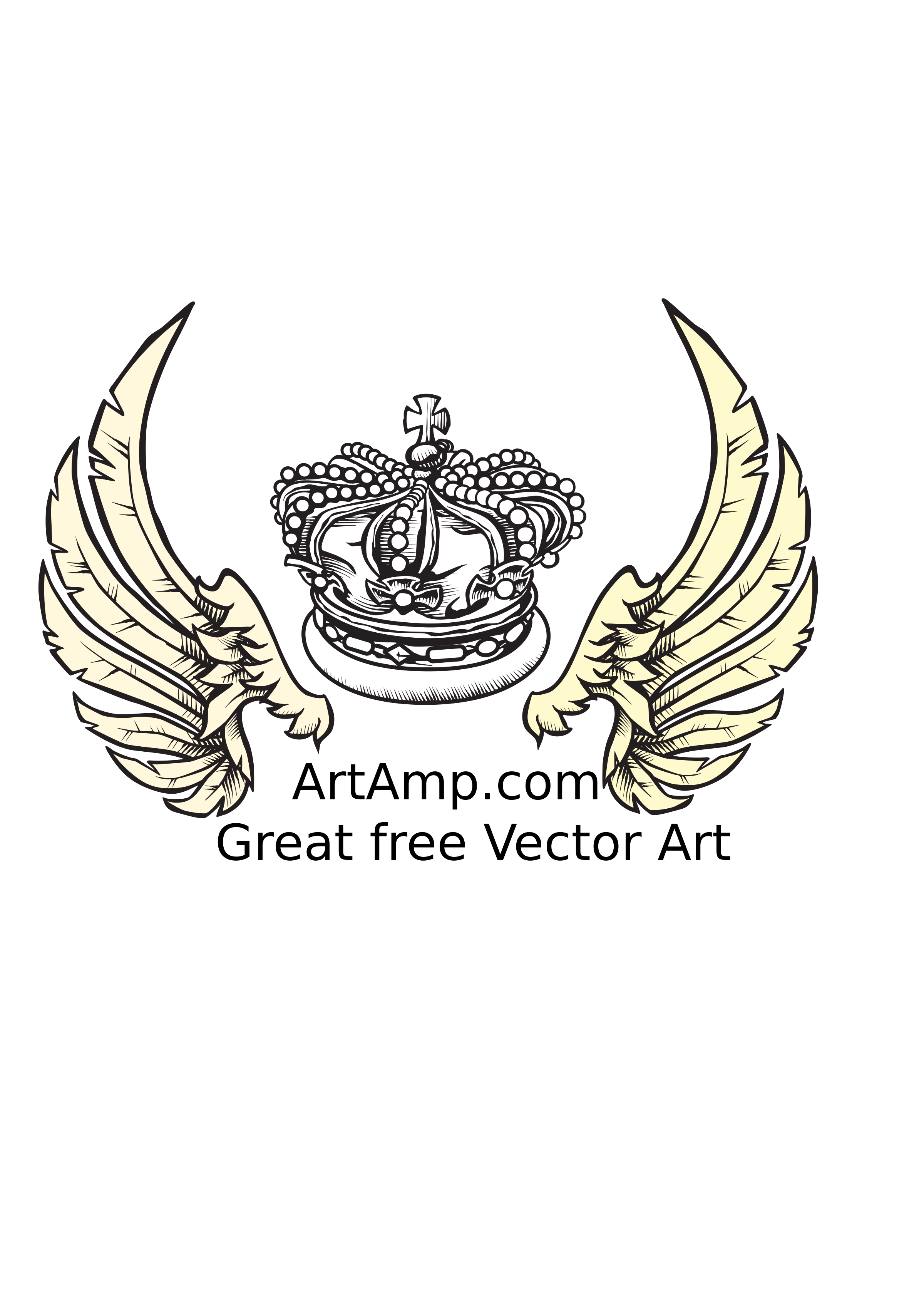 Crown crest clipart png transparent library Clipart - Crown and Wings Herolday Elements transparent library