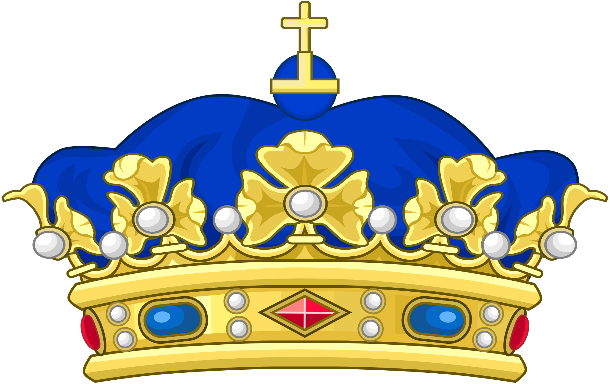Crown crest clipart png image stock File:Crown of a Napoleonic Prince Souverain.svg - Wikimedia Commons image stock