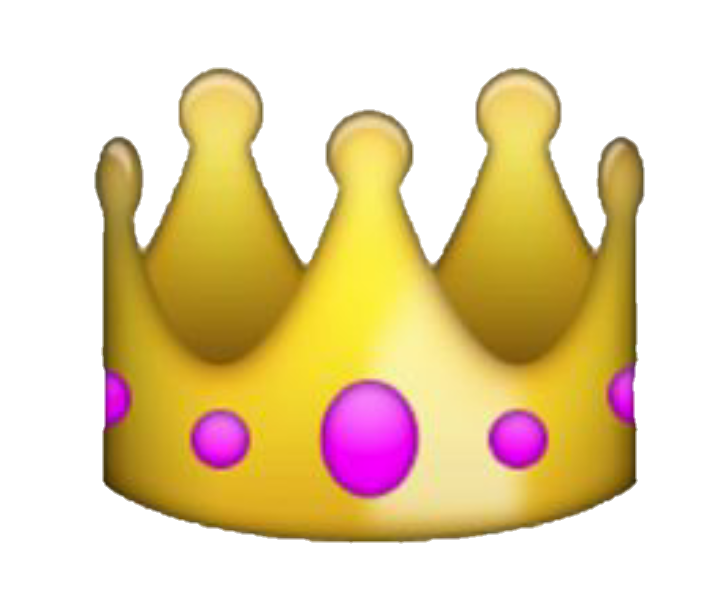 Crown emoji clipart graphic freeuse library crown emoji yellow fancy royal overlay icon... graphic freeuse library