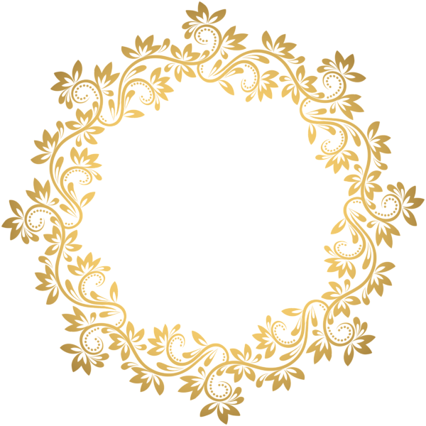 Crown fillagree clipart graphic royalty free stock Gold Deco Round Border PNG Transparent Clip Art | Borders, Frames ... graphic royalty free stock