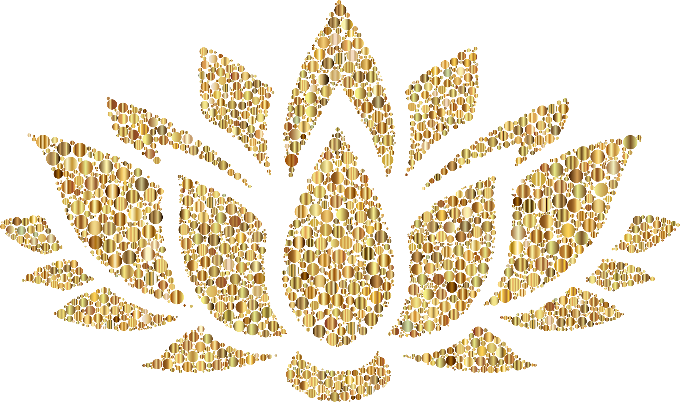 Crown fillagree clipart png transparent stock Clipart - Prismatic Lotus Flower Silhouette 6 Circles 7 No Background png transparent stock