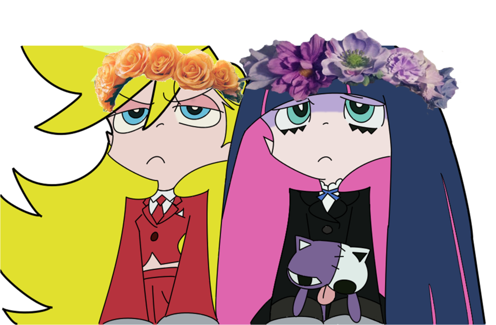 Panty and stocking colored. Crown fluffy clipart