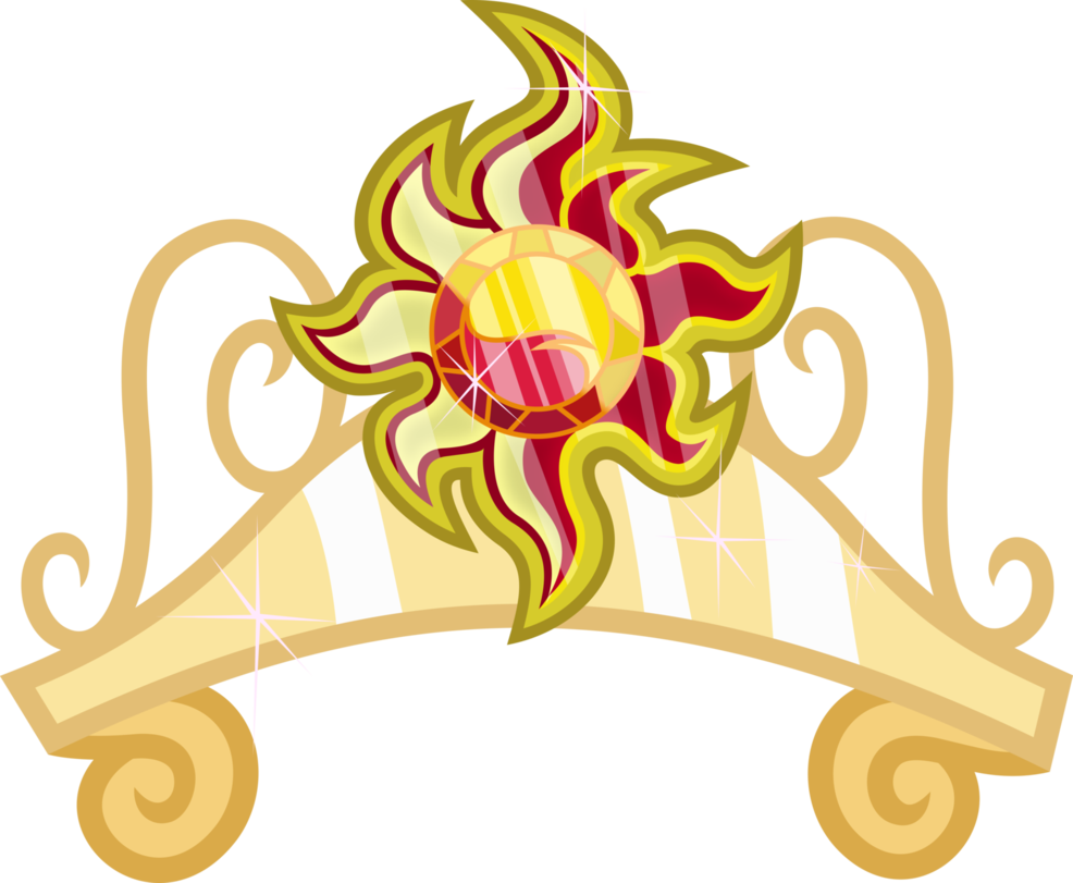 Sunset shimmer s the. Crown fluffy clipart