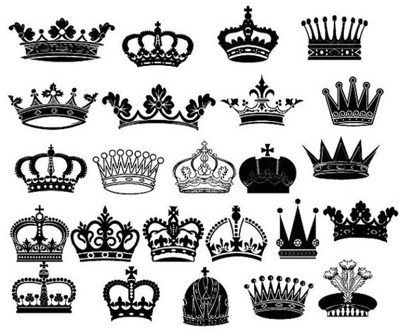 Crown for king clipart vector transparent Crown Clipart // King Queen Crown Clip Art // Royal por ... vector transparent