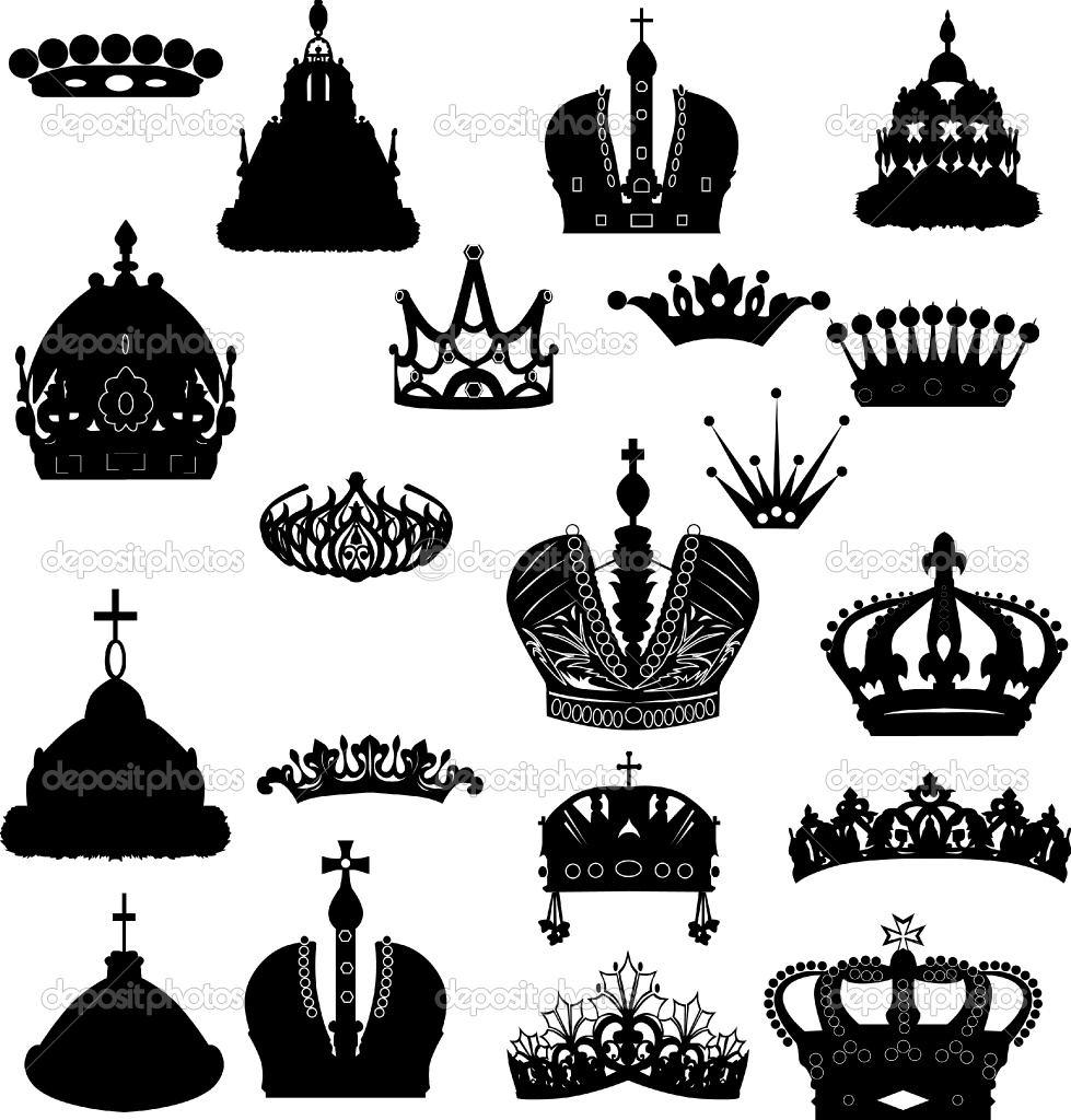 Crown for king clipart banner black and white stock Royal Crown King Princess Clip Art Set | Fantasy Clipart ... banner black and white stock