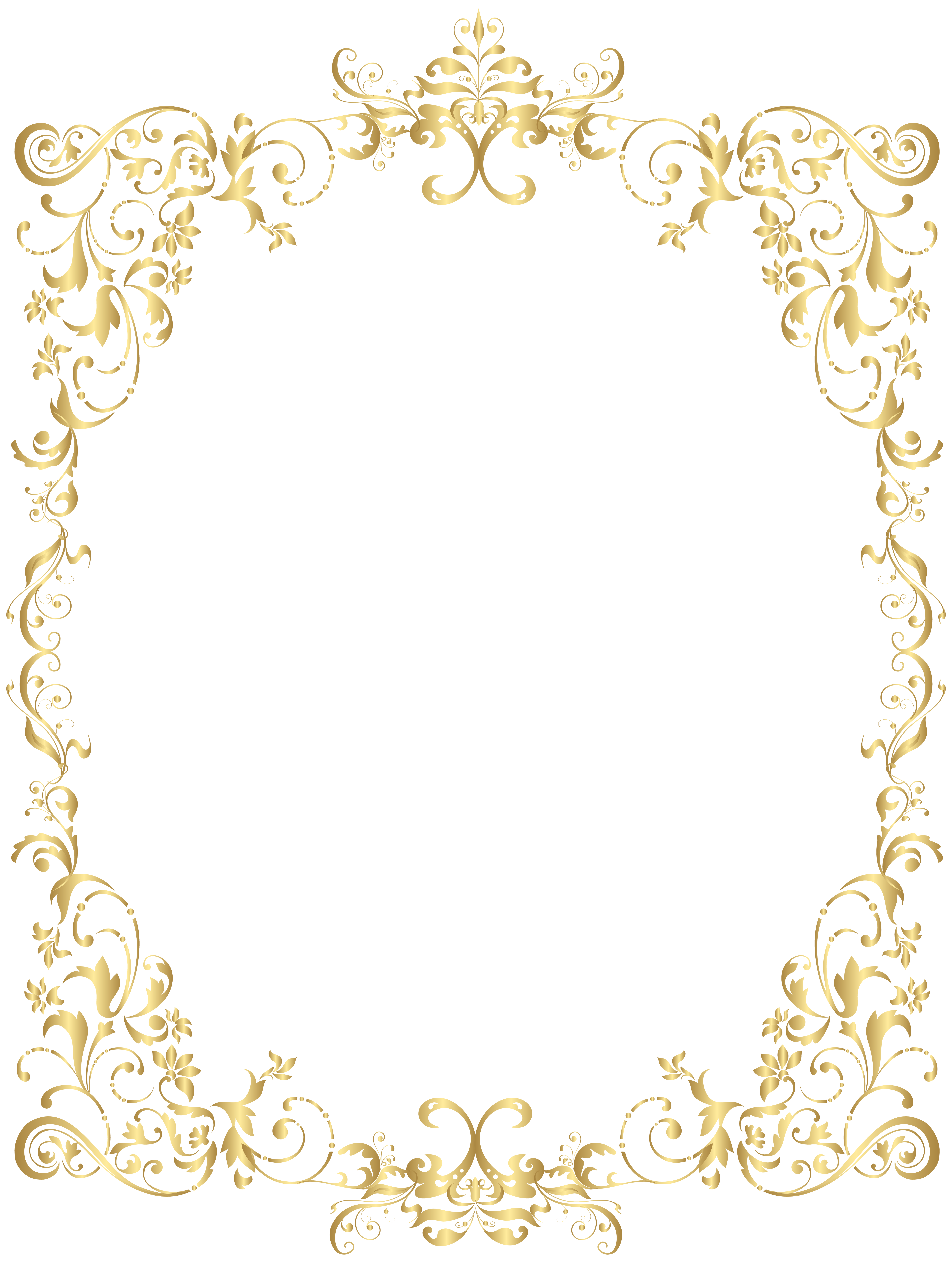 Elegant crown boarder clipart clipart free library Border Gold Decorative Frame PNG Clip Art | Gallery Yopriceville ... clipart free library