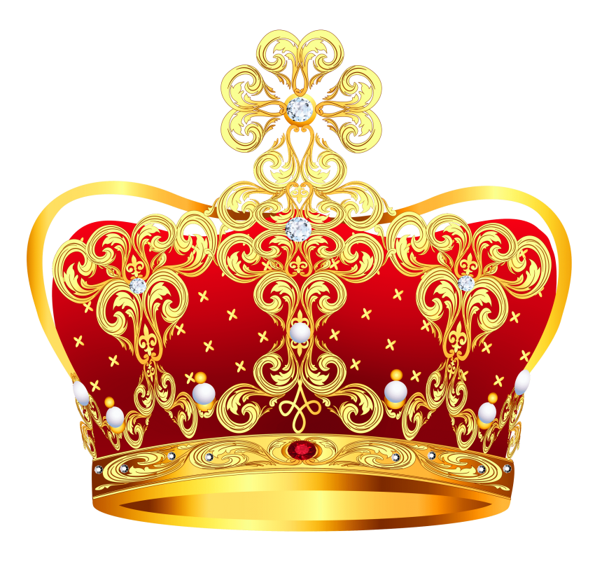 Red png free images. Crown gold coins clipart